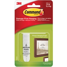 3M 17204 Command<span class='tm'>™</span> Picture Hanging Strips - Medium