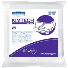 Kimtech<span class='rtm'>®</span> Pure<span class='rtm'>®</span> W4 Cleanroom Wipers